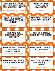 Halloween Jokes - Free Printable
