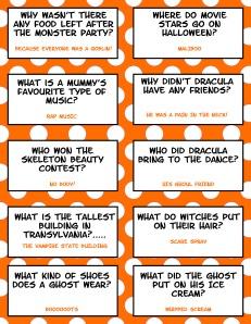 Halloween Jokes - Free Printable